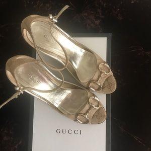 1aa70d9a5e0 Gucci Shoes - Authentic Gucci Horsebit Wedge size 7.5